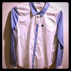 NWT A&F button-down shirt.